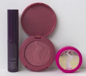 Tarte Carried Away Collector's Set- mascara, blush, and finishing powder
