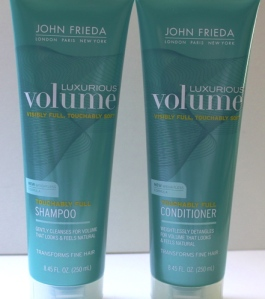 John Frieda Luxurious Volume Shampoo and Conditioner
