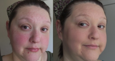 Before and after Maybelline Instant Age Rewind The Lifter Foundation