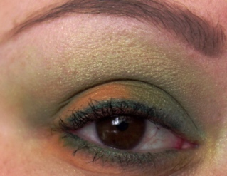 Orange and Green St. Patrick's Day Eye Look