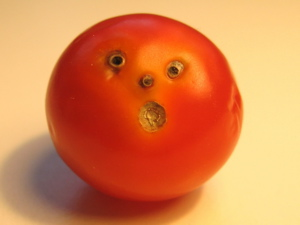 Shocked and totally embarrassed tomato face