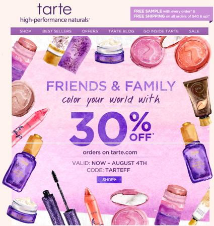tarteFFsale72013