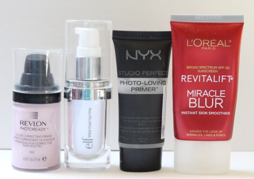 Drugstore Primers, Revlon, e.l.f., NYX, and L'Oreal