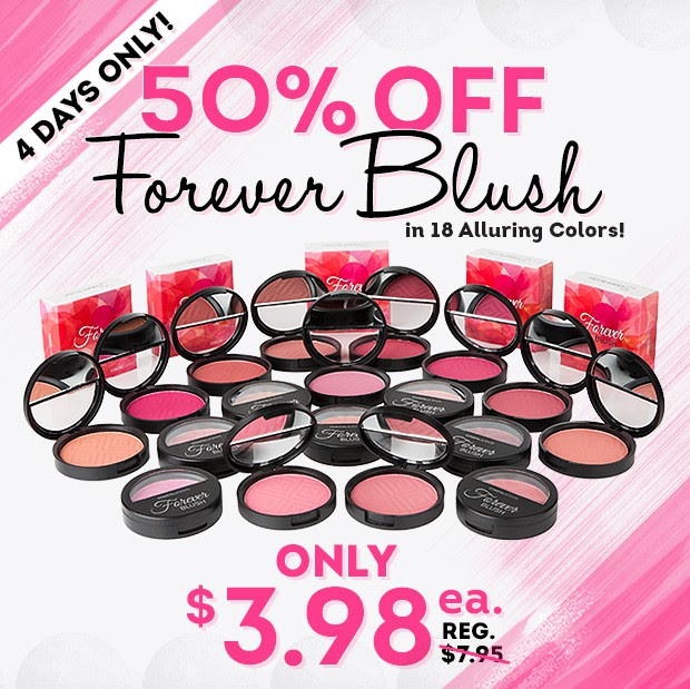 Coastal Scents Forever Blushes 50% Off
