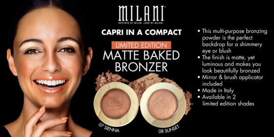 Limited Edition Milani Matte Baked Bronzers