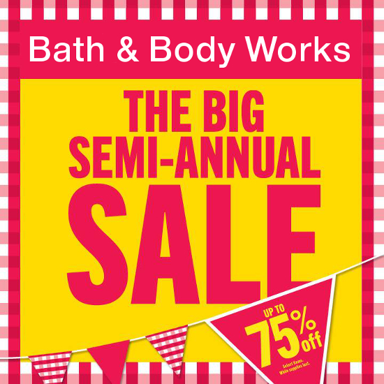 Bath & Body Works Big Semi-Annual Sale