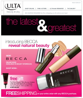 BECCA Cosmetics Now Available at Ulta
