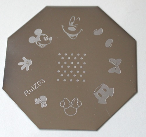 Disney Themed Stamping Plate