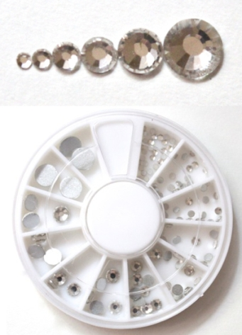 BPS Nail Art Decoration Wheel of Round Rhinestones