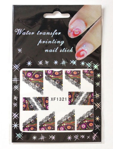 BPS Celestial Floral Pattern Water Decals
