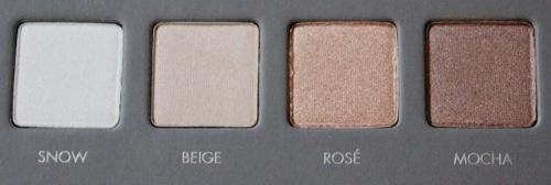 Snow, Beige, Rosé, Mocha