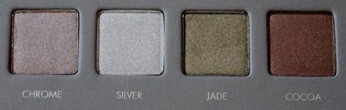 Chrome, Silver, Jade, Cocoa