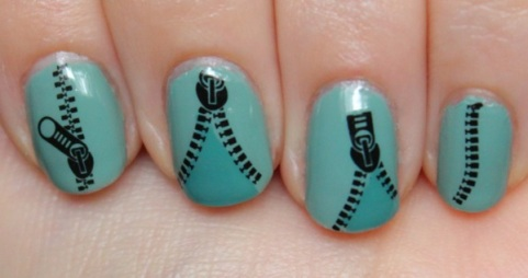 Mini Zipper Patterned Water Decals