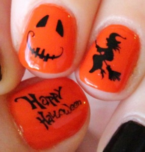 Halloween Mani water decals