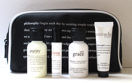 5pc Philosophy gift w/ purchase