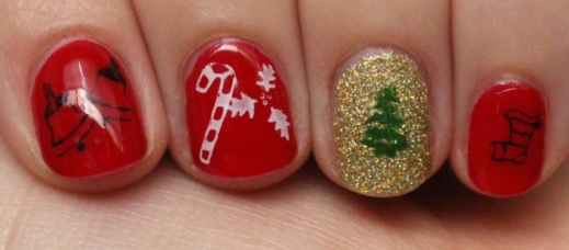 Christmas Themed Manicure