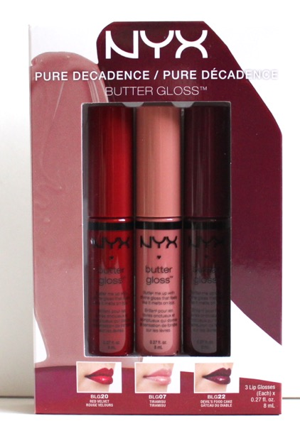 NYX Pure Decadence Butter Gloss Set