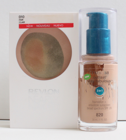 Cover Girl Outlast Stay Fabulous Foundation & Revlon Nearly Naked Powder