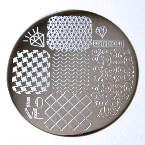 Nail Stamp Plate Damon Wave Rhombus Pattern