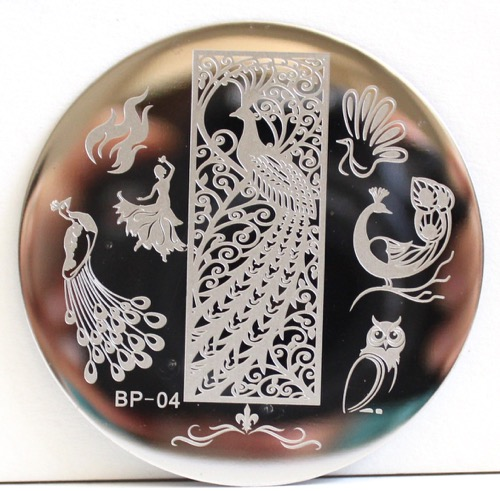 Peacock Themed Stamping Plate