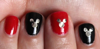 Mickey Ear Themed Nails