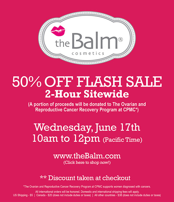 TheBalm 50% off Flash Sale