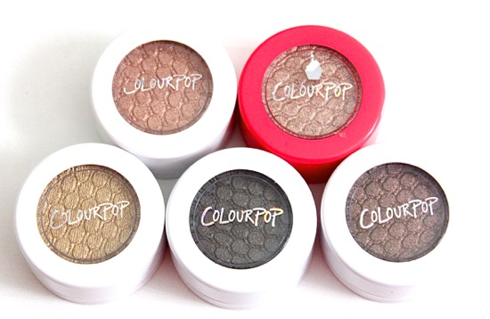 Colourpop Super Shock Shadows + Pigments
