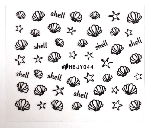 Shells and Stars Nail Stickers