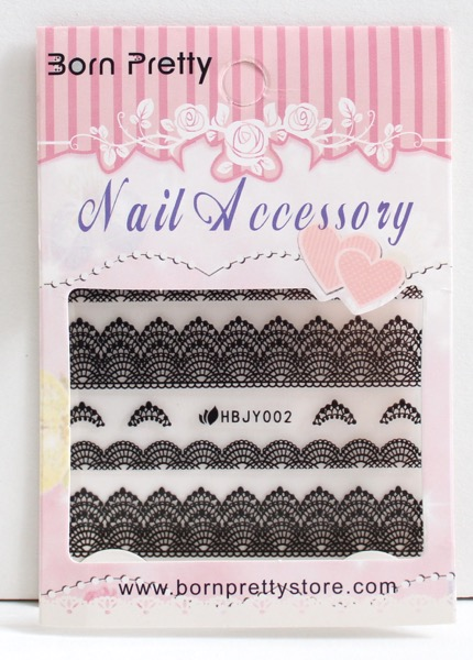 Black Lace Nail Stickers from BPS