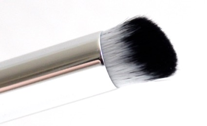 Angled brush tip