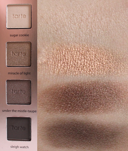 Top-Bottom: Sugar Cookie, Miracle of Light, Under the Mistle-Taupe, Sleigh Watch