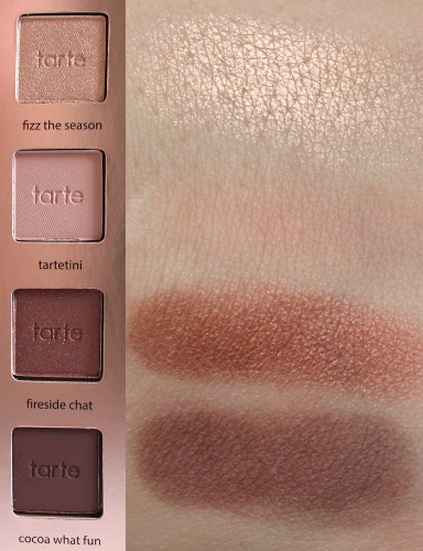 Top-Bottom: Fizz the Season, Tartetini, Fireside Chat, Cocoa What Fun