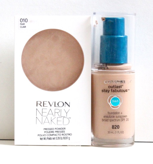 Revlon Nearly Naked Powder & Cover Girl Outlast Stay Fabulous Foundation
