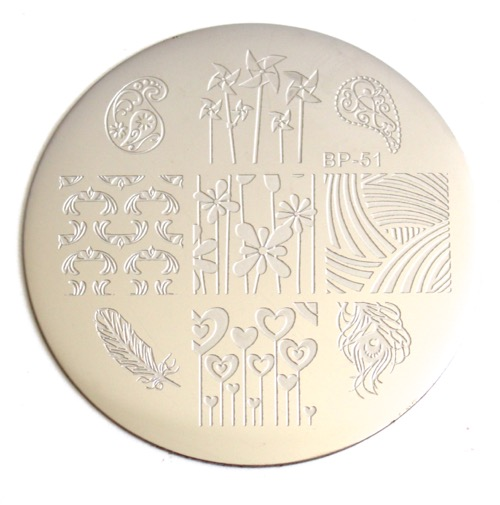 Cute Windmills Nail Art Stamping Plate