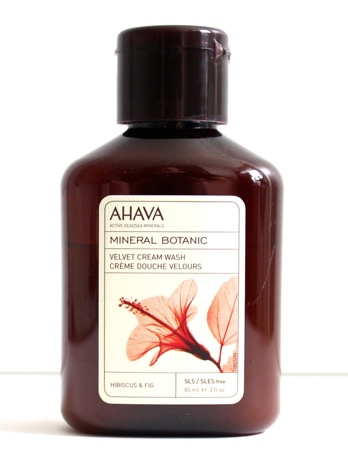 Ahava Mineral Botanic Velvet Cream Wash in Hibiscus & Fig