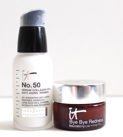 It Cosmetics No. 50 Serum Primer and It Cosmetics Bye Bye Redness