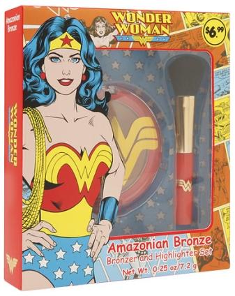Wonder Woman Amazonian Bronze Bronzer and Highlighter Set