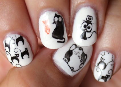 Animal Theme Nail Art Stamp Template