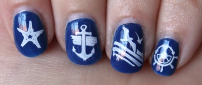 Sailors & Sea Sailing Theme Nail Art Stamp